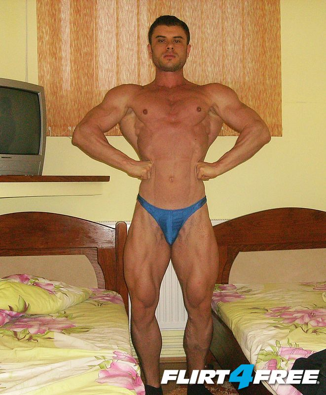 posing hotel room one day before competition