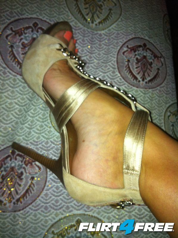 shoe on foot
