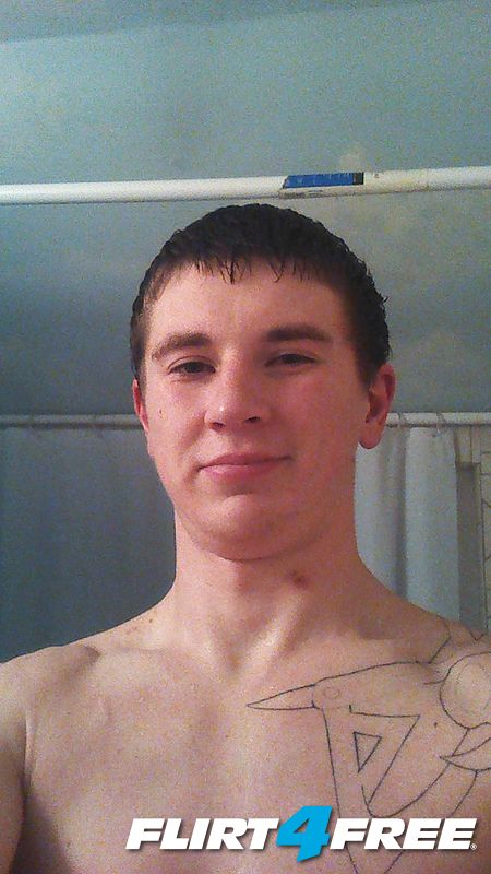 just out of the shower