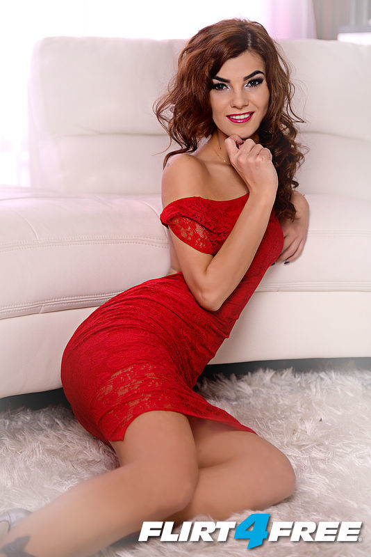 I am sensual in my red dress